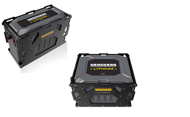 Vanguard commercial lithium-ion battery packs